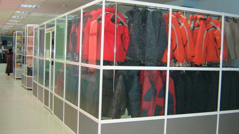 Заказать торговые перегородки для павильонов и магазинов в торговых центрах от Septa Office